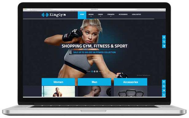 diseño de tienda online kingGym