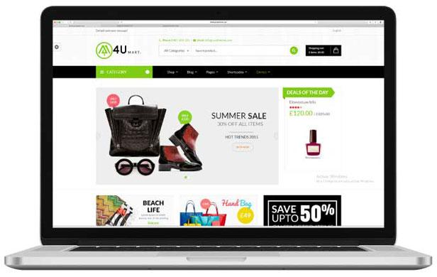 diseño de tienda online 4U