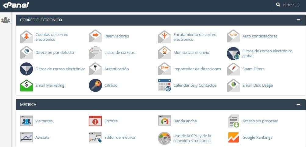 interfaz-cpanel-hosting-linux