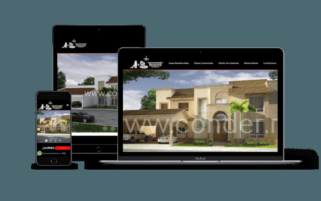 servicio de diseño paginas web de construcción lima peru