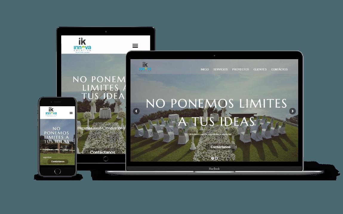 diseño  web para eventos