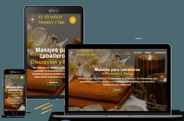 diseño web para venta de servicios