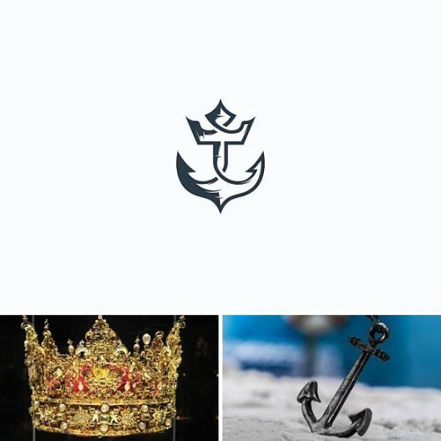 logo ancla y corona