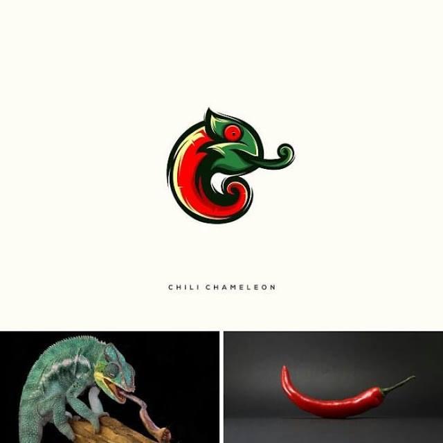 logo camaleon y aji