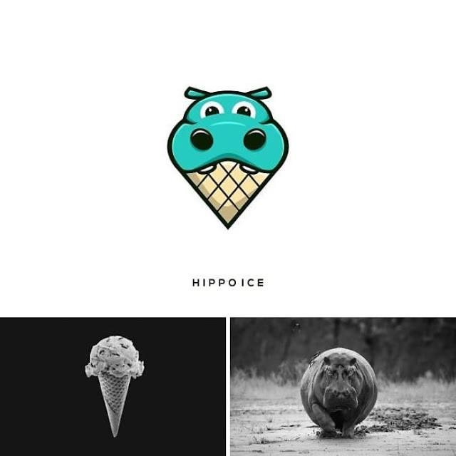 logo hipopotamo y helado
