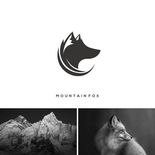 logo montaña y zorro
