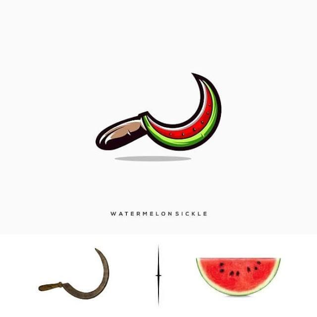 logotipo machete y sandia