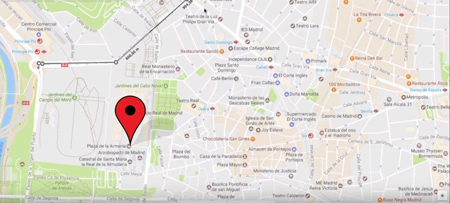 Mostrar ubicacion google maps