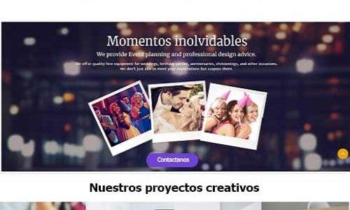 paginas web eventos