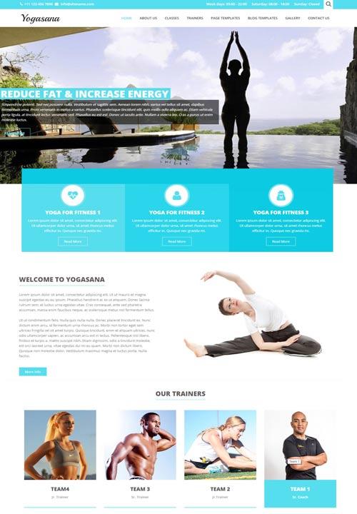 ejemplos de paginas web yoga gym salud
