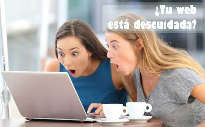 web administrables descuidadas y feas